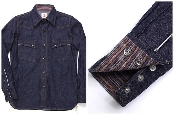Western Shirt with Kimono Details