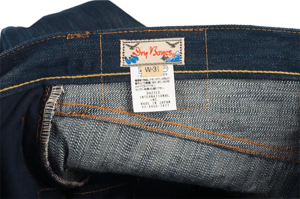 Tag - Self Edge x Dry Bones Natural Indigo Hank Dyed Jeans