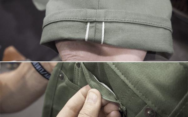 3sixteen SL-55x White Selvedge Detailing
