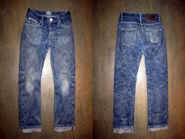 Fade of Naked and Famous Big Slub Jeans