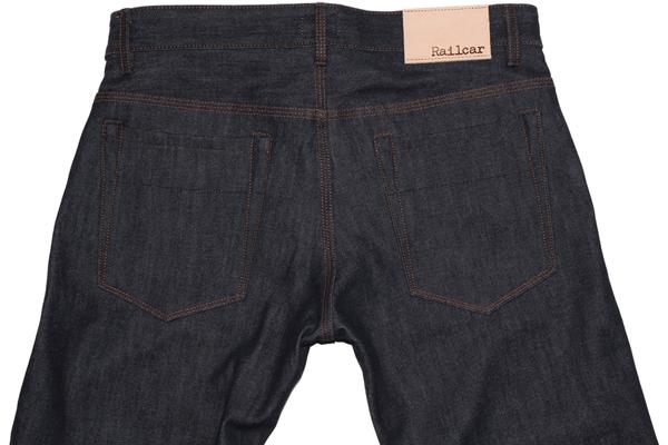Back Pockets - Railcar Fine Goods Spikes X014 Raw Denim