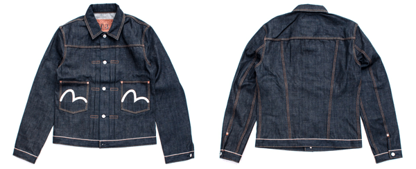 Evisu 2 Pocket Denim Jacket - 14 oz