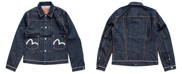 Evisu 2 Pocket Denim Jacket - 14 oz