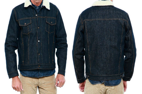 Tellason Boa-Fleece-Lined Jean Jacket