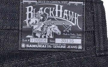 Samurai-Jeans-17-Oz-S710BKH-Black-Hawk-Raw-Denim-Just-Released