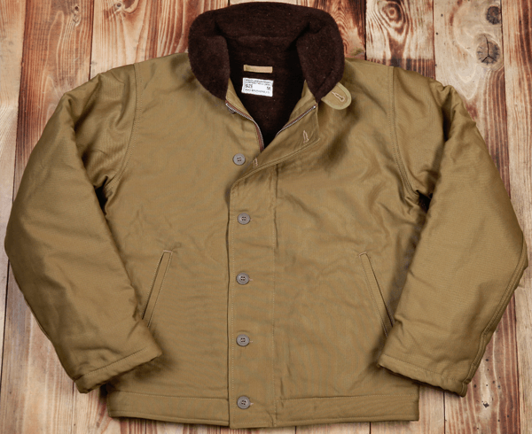 1944 N1-Deck Jacket khaki. A waxed version is coming online soon