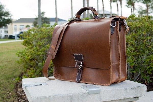 Hellbrand Leather Messenger Bag