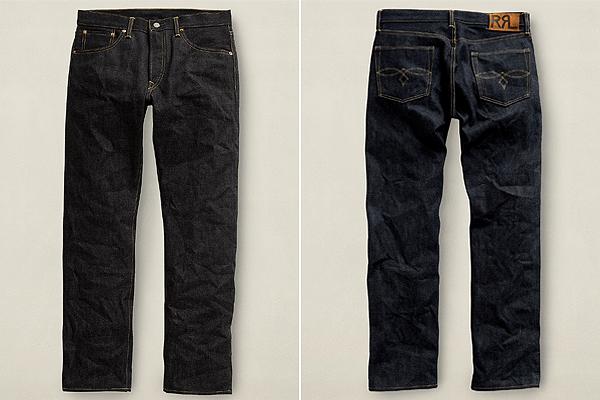 RRL Rigid Straight Low Jeans