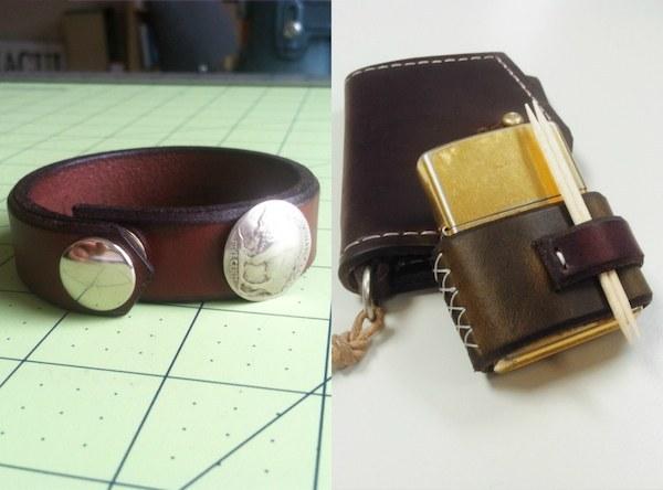 Homestead Supply Co. Buffalo Nickel Bracelet and Zippo Lighter Carrier