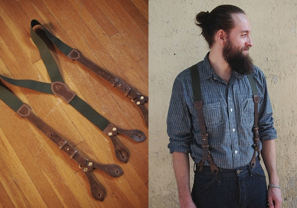 Hollows Leather Crossroads Suspenders
