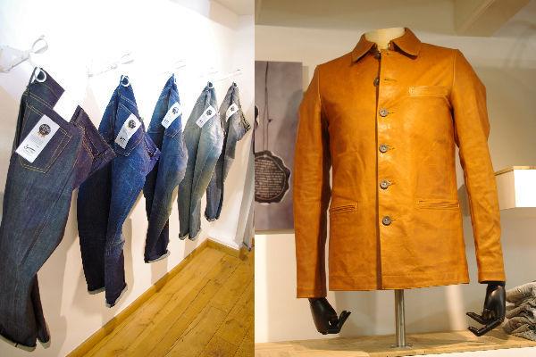 <em><strong>Denham</strong></em> new line-up (L),<strong>Danilo VTL</strong> leather jacket
