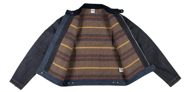 Lining - IH Blanket Lined 21oz Indigo Rider's Jacket