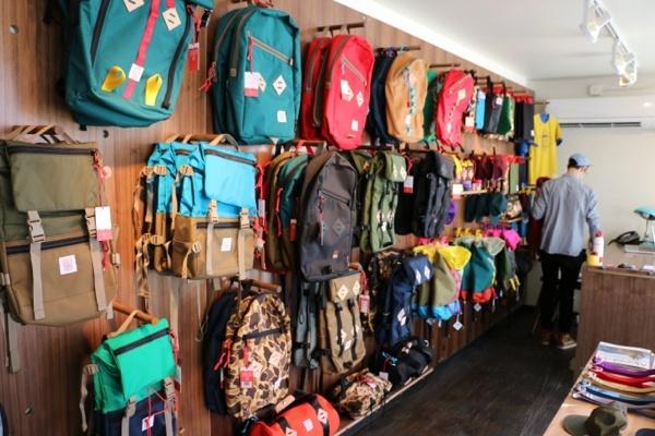 Topo Designs Bag Display