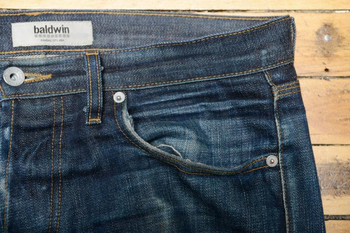 Front Pocket - Baldwin Henley Nihon Menpu Top Block After 8 Months