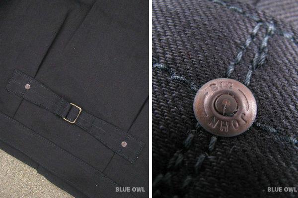 Big John KURO2 Type 3 Denim Jacket Cinch and Rivet