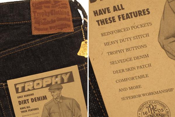 Back Pocket Flasher - Trophy 1605 Dirt Denim