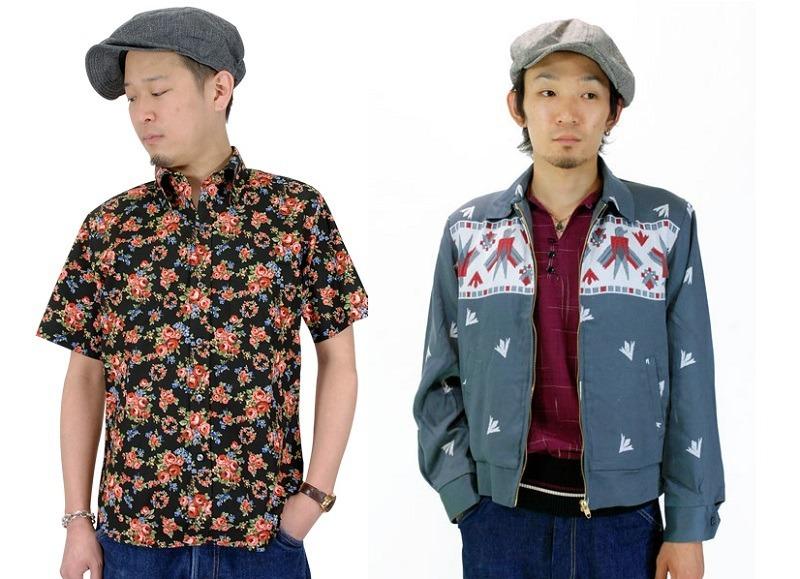 A Dry Bones Hawaiian shirt and Gabardine jacket.