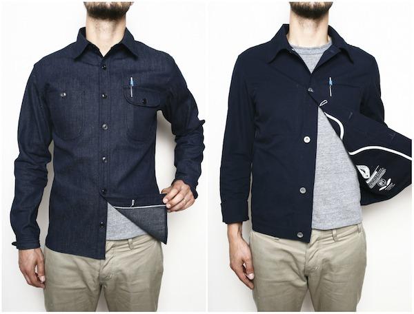 Indigo Denim Workshirt and Navy Supply Jacket