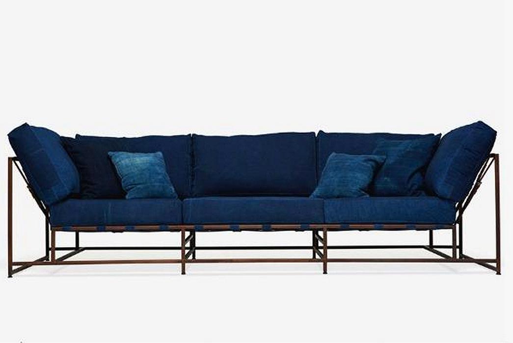 Stephen Kenn x Simon Miller Naturally Indigo Dyed Sofa
