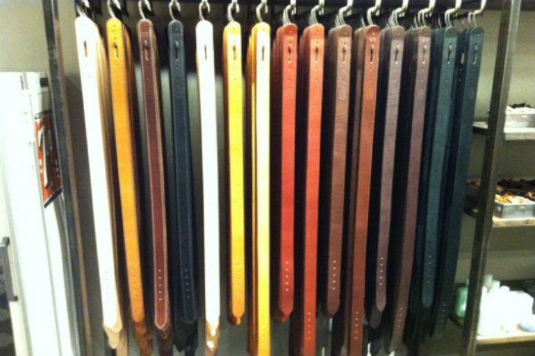 Tanner Goods belt line up