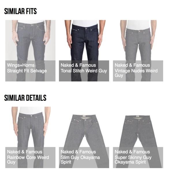 Similar Fits and Similar Details