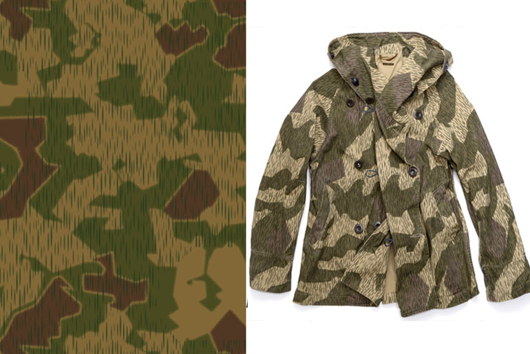 Splinter camo Parka by Kapital
