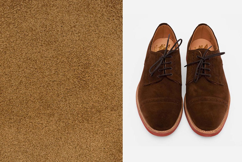 Suede Punch-Cap Derbys by Mark McNairy