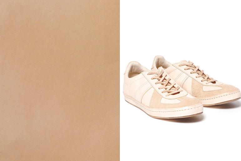 Veg-tanned sneakers by Hender Scheme