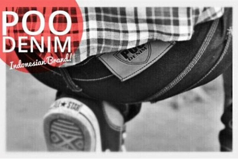 Note: Poo Denim is an actual denim brand in Indonesia