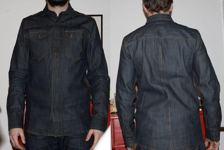 Fade Friday – Nudie Gunnar Shirt Organic Dry (5.5 months, 1 wash, 1 soak)