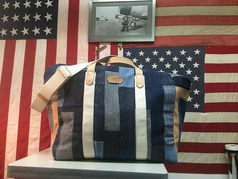 Black Point Mercantile Patchwork Denim Carryall Bag
