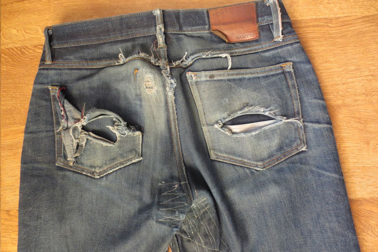 Fade Friday – Gustin Heavy American (7 months, 3 washes, 0 soaks)