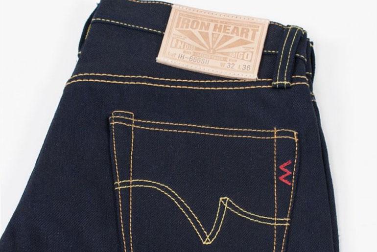Iron Heart 666SII Double Indigo Slim Fit Jeans
