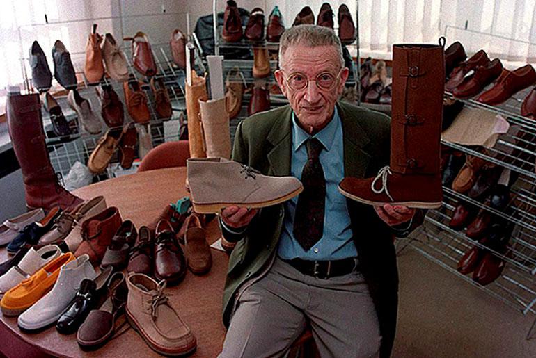 Nathan Clark, originator of the desert boot. Image via: Hypebeast.