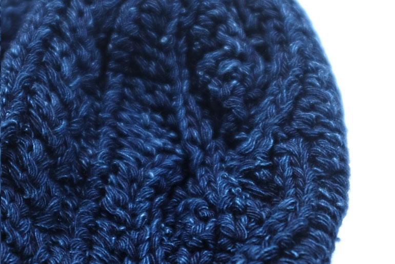 Pure Blue Japan Indigo Dyed Beanies