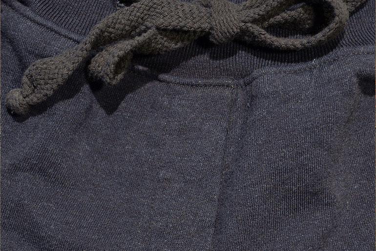 Left-Field-Indigo-Dyed-Loop-Terry-Sweat-Pant-Closeup