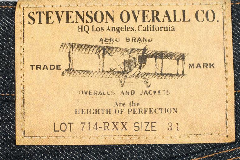 Stevenson Overall Co. 714 Valencia Straight Tapered Jean