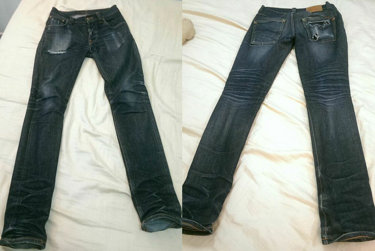 Fade of the Day – Nudie Grim Tim Dry Organic (2 years, 2 washes)