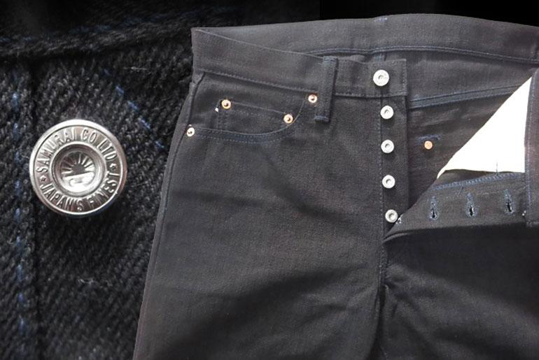 Samurai Jeans S710BKB Black x Black Jean