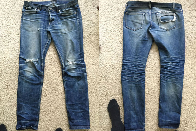 Fade of the Day – A.P.C. Petit New Standard (27 months, 5 washes, 1 soak)
