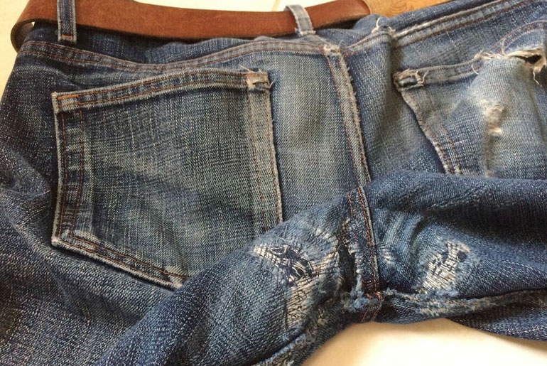 Fade of the Day – Naked & Famous Japan Heritage (2.5 years, 6 washes)