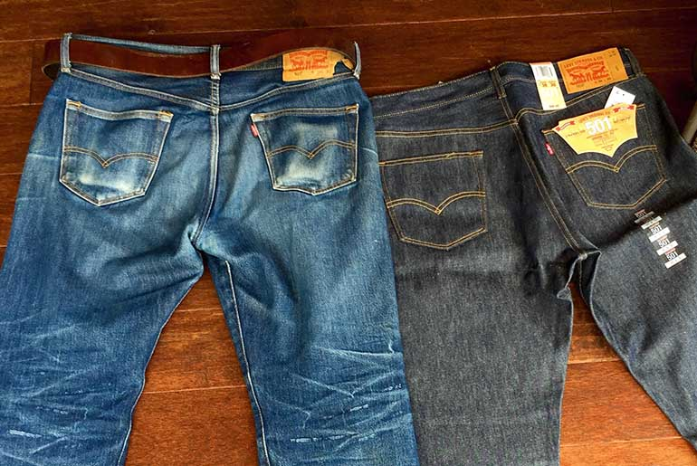 Fade of the Day – Levi's 501 STF (3 Months, 1 Wash, 4 Soaks)