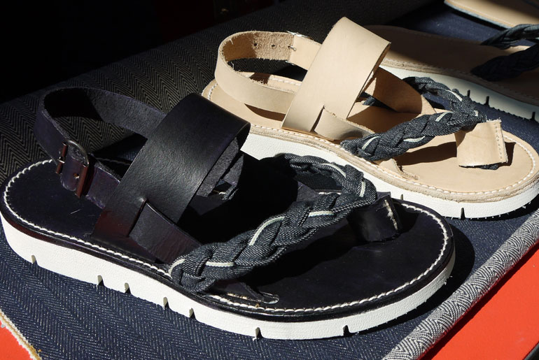 Dyemond Goods x Wijsman Cobblers shoe - vegetable-tanned leather, selvedge denim, and a Vibram Gloxycut outsole