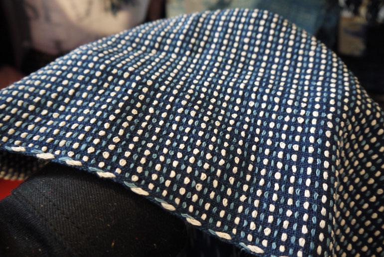 Indigo People naturally-dyed sashiko stitched scarf.