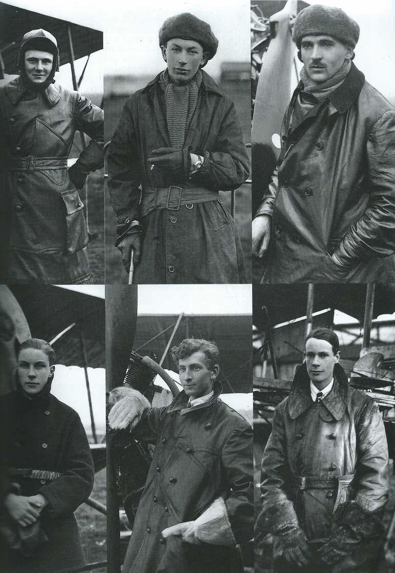 Vintage photos of early flight era pilots