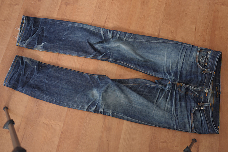 Fade of the Day – Nudie Grim Tim Dry Selvedge (2.5 Years, 1 Wash)