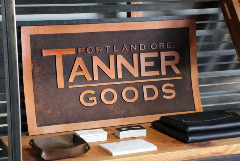 Inside Tanner Goods Portland Workshop