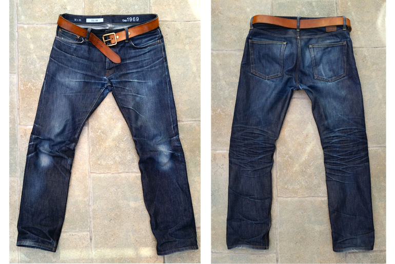 Fade of the Day – Gap 1969 Slim Fit Japanese Selvedge (2 Years, 6 Months, 1 Soak)