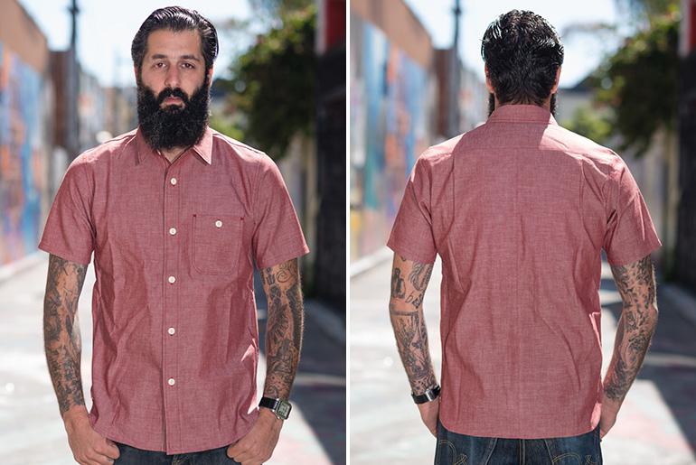 "Roy ""Big Bro"" Red Chambray Short Sleeve Baja Shirt"