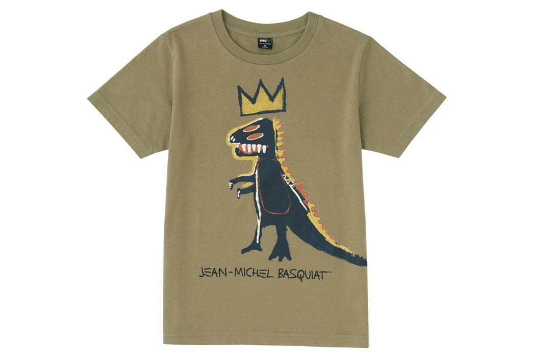 Basquiat uniqlo dino t shirt